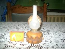 Kicsi petróleum lámpa - anno elemes - dísztárgy