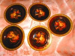 5 db  Altwien antik jelenetes   süteményes  tányér