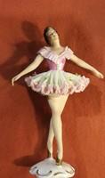 Régi olasz porcelán táncos nő,  kiváló ajándéknak.20 cm