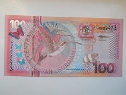 Suriname 100 gulden 2000 UNC Ritka !