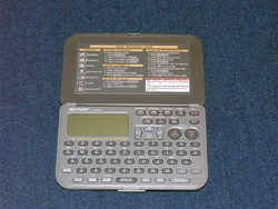 Retró SHARP EL-6390  Manager-kalkulátor,