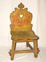 Antik népi festett bútor szék
