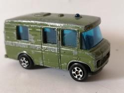 Retró fém kisautó katonai rendőrség kisbusz