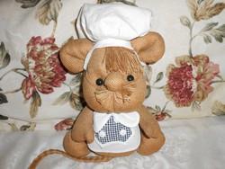 Nagyon aranyos konyhai kabala. séfruhában  27cm.