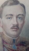 Festmény IV.karoly utolsó habsburg  király és Zita magyar királyne felesége