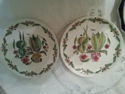 2 francia jelzett tányér  /Gien/