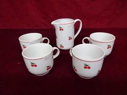Alföldi porcelán kávéscsésze, cseresznye mintával.