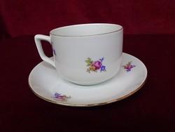 MZ Csehszlovák porcelán teáscsésze + alátét.
