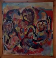 Hármas portré kortárs festmény