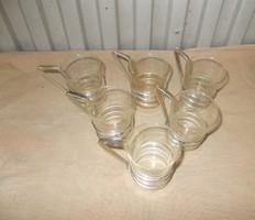 Capuccinós Üveg csészék fém talppal kistányérjaival