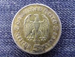 Németország Paul Von Hindenburg (1847-1934) ezüst 5 birodalmi márka 1936 A / id 13855/