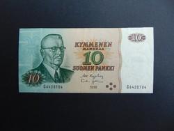 10 márka 1980 Finnország Szép ropogós bankjegy