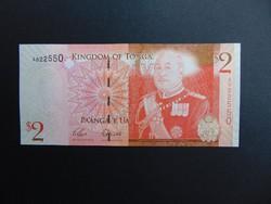 2 paanga 2009 Tonga Hajtatlan bankjegy