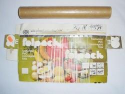 Retro folpack papír doboz - Háztartási PVC csomagoló fólia - BVK Borsodi Vegyi Kombinát