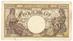 2000 lei 1941 Románia 1.