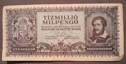 Szép Tízmillió Milpengő 1946.bankjegy