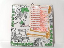 A borivó tíz parancsolata Romhányi csempe (202)