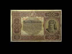100 KORONA - 1920 - REMEK TARTÁSBAN