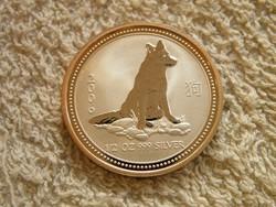 KK527  2006 Ausztrália 1/2 Uncia ezüst 50 cent Kutya RITKA