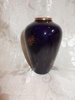 Régi kék kis hollóházi váza