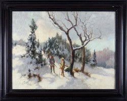 Neogrády Antal - Téli vadászat