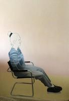 Fehér László   olaj, vászon festmény  200x140 cm   The Bauhaus Chair  !