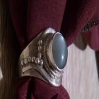 Vintage Ásványköves Sterling Ezüst Gyűrű