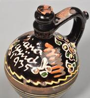 Régi cserépkorsó, Máriagyüdió 1935 , szenteltvizes kiskorsó, 19cm