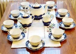 Zsolnay Pompadour II porcelán teáskészlet 9 személyes