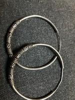 925 ezüst karika fülbevaló - 4,5 cm