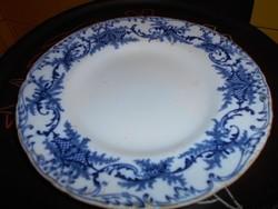 Antik fajansz cauldon  tányér Hüttl Tivadar kereskedői behozatali jelzésével