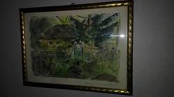 Márffy Ödön- Zugliget 1938(?)  - antik festmény, 1 forintról!