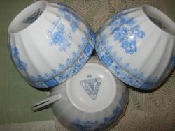 3 db Bavaria csésze kék kínai mintával