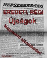1986 február 15  /  NÉPSZABADSÁG  /  Régi ÚJSÁGOK KÉPREGÉNYEK MAGAZINOK Szs.:  8503