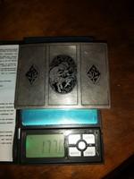 Antik Nielos 900-os ezüst cigerettatarca. 177g