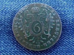 Ausztria II. Ferenc 6 Krajcár 1800 B / id 1385/