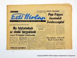 1977.11.11  /  Puja Frigyes hazaindult…  /  Esti Hírlap  /  Szs.:  12625