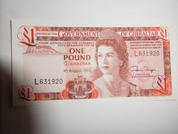 Gibraltár 1 pounds 1988 UNC