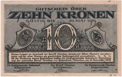 Tetschen, 10 Kronen, 1918 - aUNC