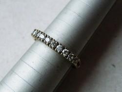 KK532  9 karátos sárga arany gyűrű cirkónia kövekkel ékesítve 52 méret