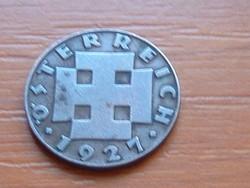 AUSZTRIA OSZTRÁK 2 GROSCHEN 1927 BRONZ #