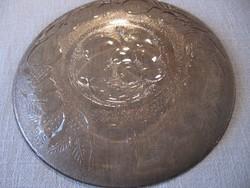 Fidenza füstös barna gyümölcs mintás tányér