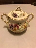 Zsolnay lepke mintás teás készlet szóló cukortartója szép állapotban