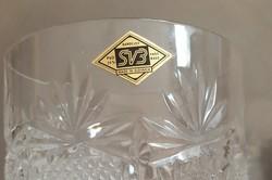Ólomkristály,  csiszolt  poharak 6 db