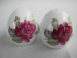 Angol porcelán rózsás sószóró és borsszóró fűszertartó pár