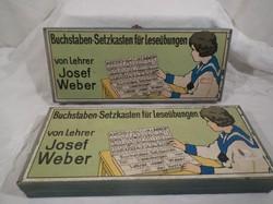 2 pcs - 1960 Austrian letter puzzle - 31 x 13 x 3.5 cm