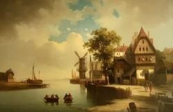 Ferdinand Hofbauer (1803 - 1846): Flamand kikötő