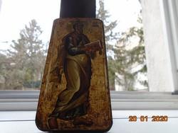 13.sz Bolgár ikon Ohrid,Máté Evangelista,múzeumi másolat,nyomat fa lapra