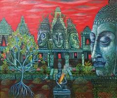 Galambos Tamás - Angkor 50x60 cm (keretezett)