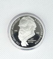 0R948 Színezüst Széchenyi emlékérem 0.999 MKB